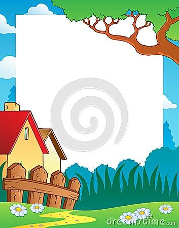 Landscape theme frame