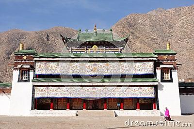 Landscape in Tibet Editorial Stock Photo
