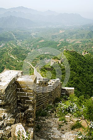 Landscape from the top of the great wall