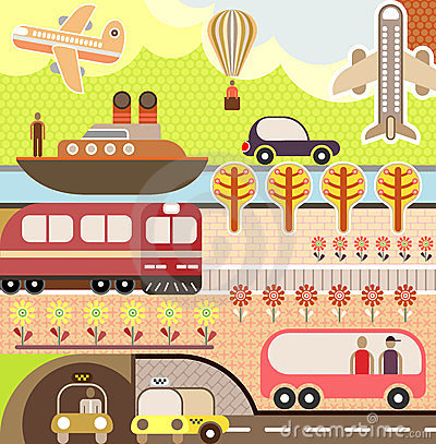 Free Landscape - Tourism And Travel Illustration Stock Photos - 23598153