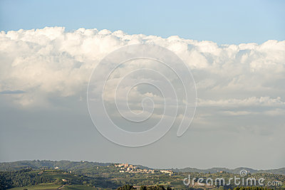 Landscape Tuscany with clouds