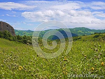 Landscape in Val Trebbia, Piacenza, Italy