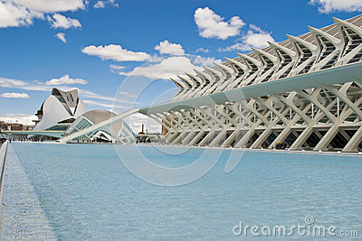 Landscape of Valencia landmark Editorial Photography