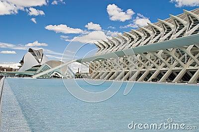 Landscape of Valencia landmark Editorial Photography
