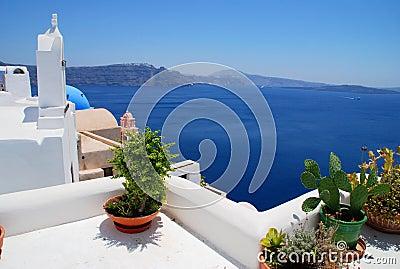 Landscape view in Santorini