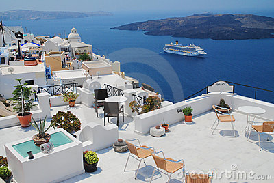 Landscape view in Santorini