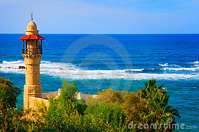 Landscape view from Tel Aviv coastline, Israel