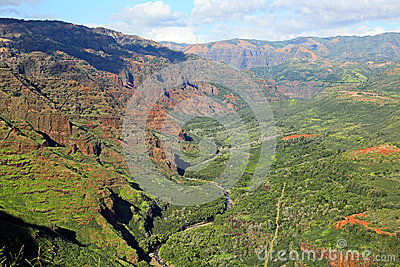 Landscape in Waimea Canyon