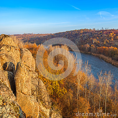 Free Landscape With Southern Bug River Stock Images - 53874844