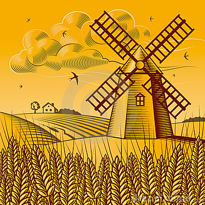 Free Landscape With Windmill Stock Photo - 11087180