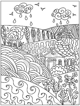 Free Landscape Zentangle Stock Images - 56589174