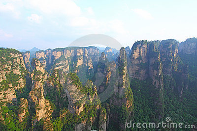 Landscape in Zhangjiajie of China