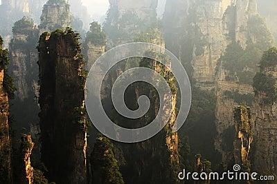 Landscape of ZhangjiaJie national geologic Park