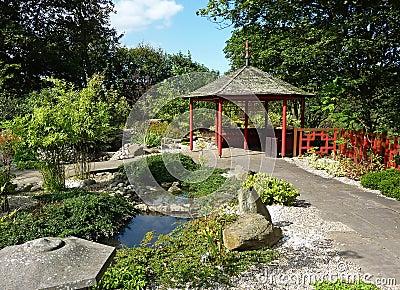 Landscaped Chinese garden