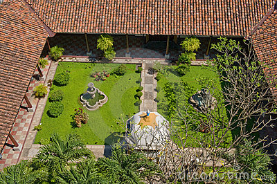 Landscaped garden aerial