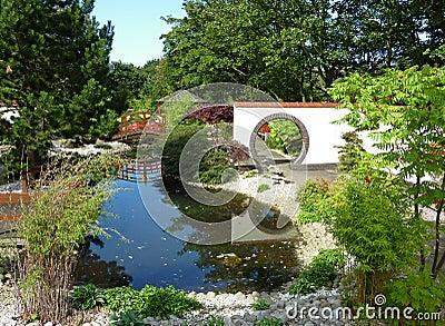 Landscaped Oriental garden