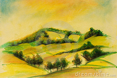 Landscapes on oil canvas