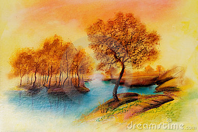 Landscapes on oil canvas