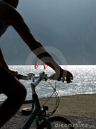 Landscapes series - cycle on garda lake