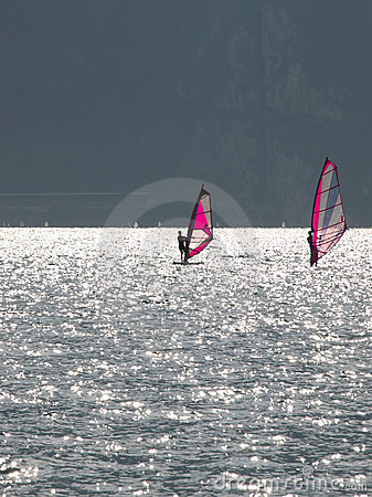 Landscapes series - garda lake - surf