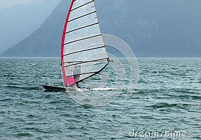 Surf-Riva del Garda lake Italy