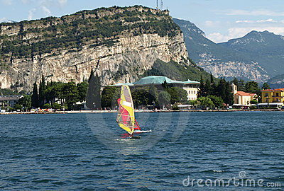 Landscapes series - surf on Garda lake, Italy