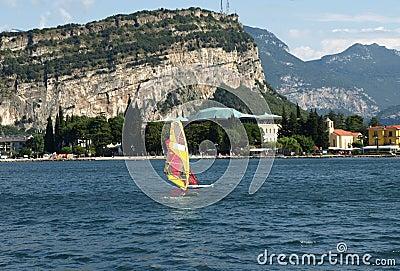 Surf-Riva del Garda lake Italy- Monte Brione