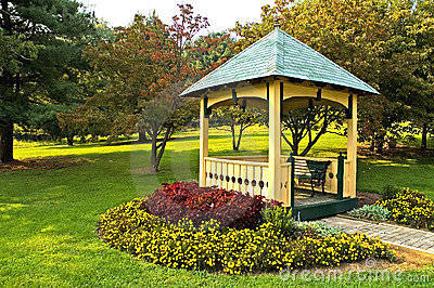 Landscaping around gazebo