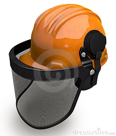 Landscaping Hard Hat With Visor Combo Royalty Free Stock Photos - Image: 21903528