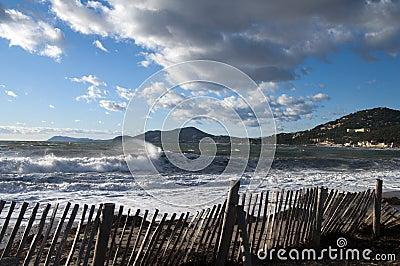 Halbinsel von Gien in französischem Riviera, Frankreich