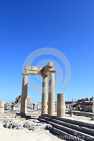 Landschaft von Hellenistic stoa