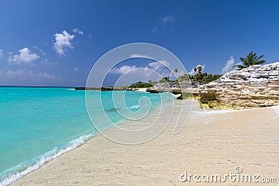 Landschaft von karibischem Meer