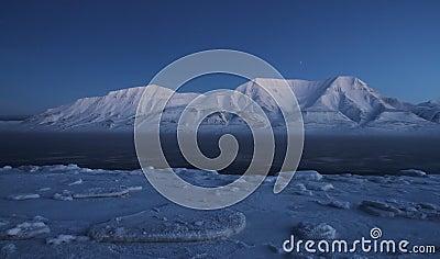 Landschap in het Noordpoolgebied