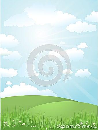 Landschap op een zonnige dag