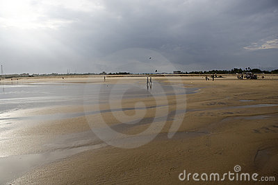 Landschap van het strand in op-overzees Gopalpur.