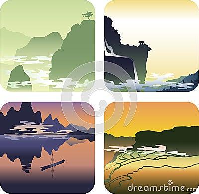 Landschappen van Azië