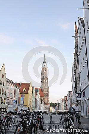 Landshut old town street Editorial Image