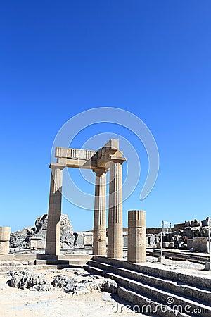 Landskap av Hellenistic stoa