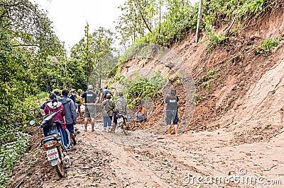 Landslide Editorial Stock Photo