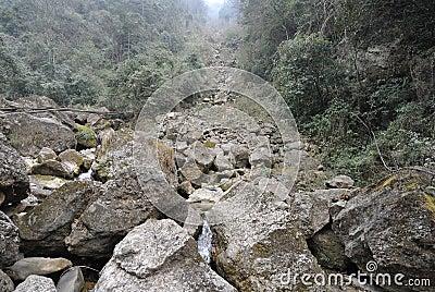 Landslide destroy
