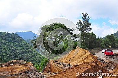 Landslide Road Block, Guatemala