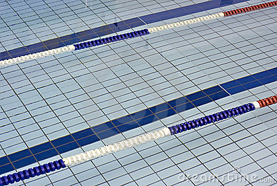 Lane dividers for racing in a swimming pool