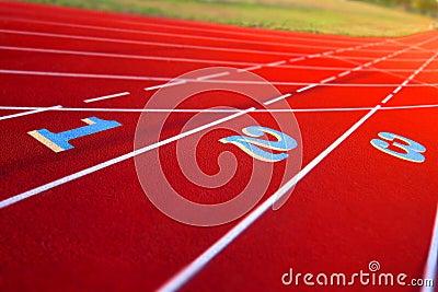 Lane Numbers on Stadium Track
