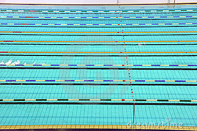 Lane of swimming pool