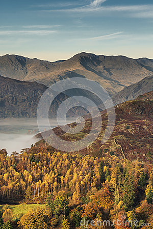 Free Langdale Pikes In Autumn. Royalty Free Stock Images - 63970089