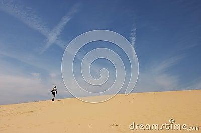 Lange gang in Woestijn