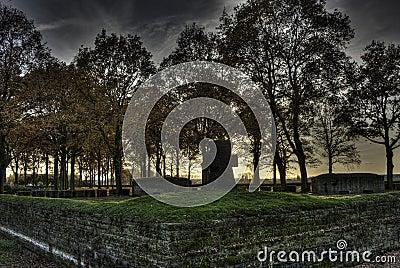 Langemark WWI Cemetery, Flanders Fields, Ypres, Belgium