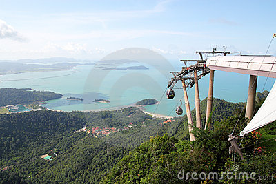 Langkawi Cable Car Editorial Stock Image