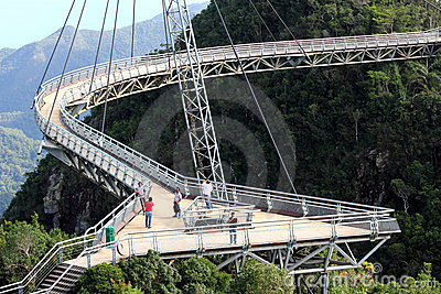 Langkawi Sky Bridge 01 Editorial Stock Photo
