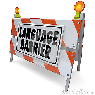 Free Language Barrier Translation Interpret Message Meaning Words Royalty Free Stock Images - 37850229
